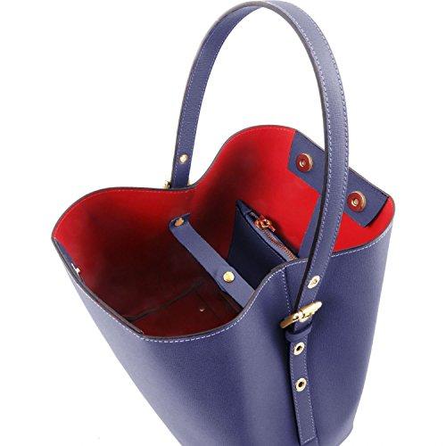 f7e871a4c5 ... Tuscany Leather Arianna - Borsa secchiello da donna in pelle Saffiano  con pochette interna - TL141613 ...
