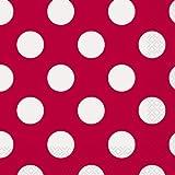 Unique Party - 30425 - Paquet de 16 Serviettes - Papier à Pois - 16,5 cm - Rouge