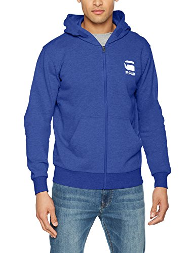 G-Star Doax Hooded Zip Thru Sw L/s, Herren Regular Fit, Blau (Hudson Blue Heather ), X-Large