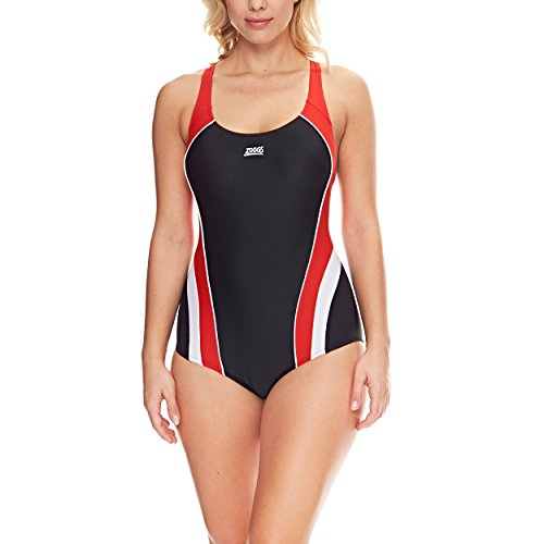 zoggs-womens-noosa-fly-back-swimsuit-black-red-white-size-40