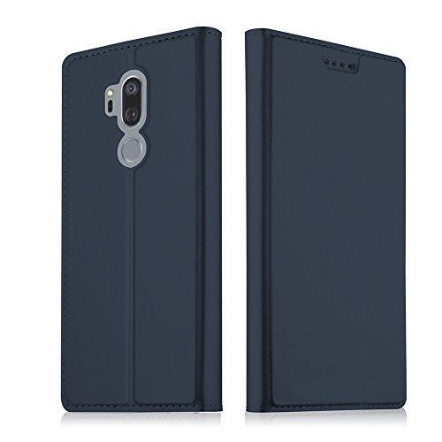 ChainPlus LG G7 Mappenkasten, [Folio Style] Premium LG G7 Kartenetuis Stand-Funktion für LG G7 [Blau] New Flip Cover mit Neu
