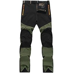 Pantalones de hombre Impermeable A prueba de viento Al aire libre Excursionismo Alpinismo Deportes Calentar Invierno Grueso Táctico Pantalones LMMVP (XL, Negro)