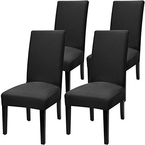 Fuloon Stuhlhussen 4er Set Universal Stretch Stuhlkissen Sessel überzug stuhlbezüge Protector Cover für Weihnachten Haus Esszimmer Moderne Hochzeit Bouquet, Hotel, Restaurant Dekor (4 Stück) - Hussen Sessel Stühle