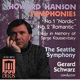 Hanson/Sinfonien 1+2/Elegie