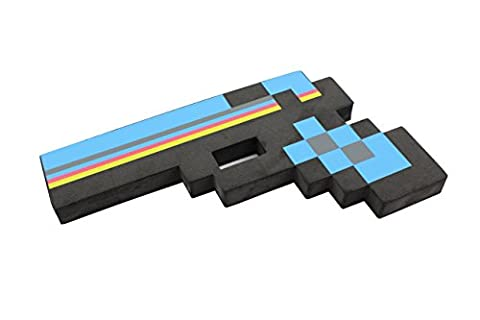 8 Bit Pixelated Ender Black Foam Gun Toy 10