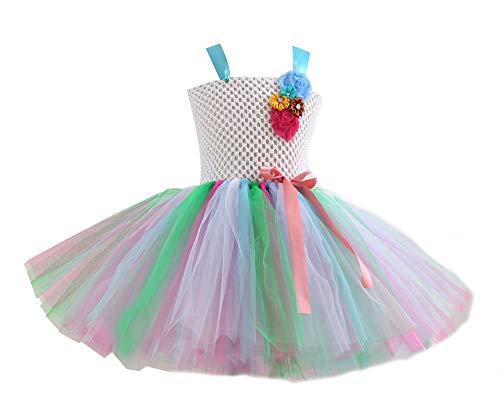 ASKEN Hochzeit Blumenmädchen Tutu Kleid Geburtstagsfeier Prinzessin Cosplay Karneval Pageant Ballkleid Green - Erwägungsgrund Kostüm