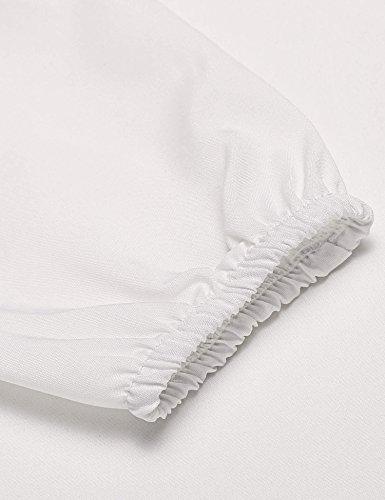 begorey -  Maglia a manica lunga  - Donna Bianco