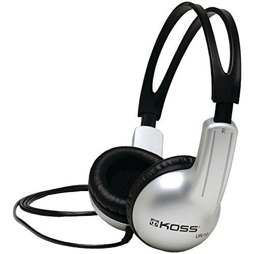 Koss UR10 Stereo Over-Ear Kopfhörer Kompatibel mit Smartphones, Laptops, Tablets und MP3 Geräten - Silber Koss Stereo-headset