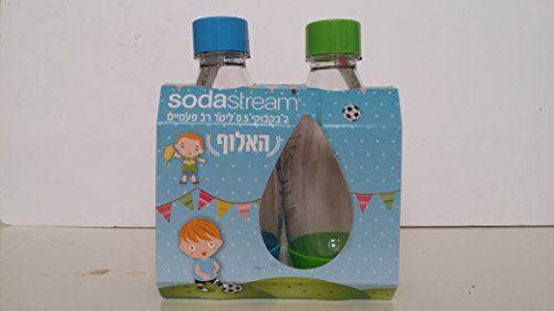SodaStream Bottles A New Design for Your Champion – 100% ORIGINAL Carbonating PET Bottles (2 x 0.5 Liter / 17 oz. Each Bottle) by SodaStream