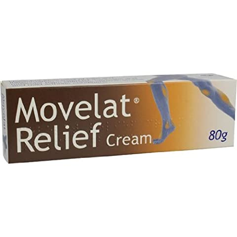 New Movelat Relief Cream 80g - Muscular Pain & Stiffness, Sprains & Strains