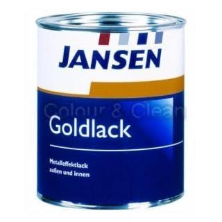 Goldlack 750ml.Jansen Goldlack Metalleffektlack außen und innen