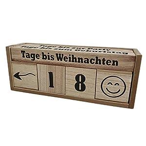 Spetebo Holz Countdown Würfel XXL für 8 Ereignisse – Deko Holzwürfel Würfelkalender Dauerkalender Natur Holz