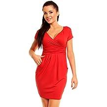 Zeta Ville Jersey Minivestido corte imperio Vestido cuello V - para mujer - 806z
