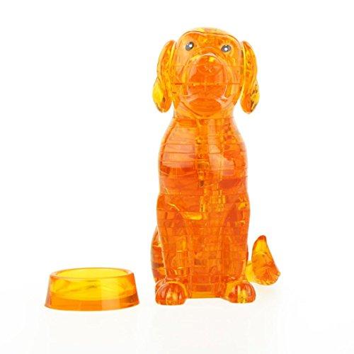 diy gadget blöcke gebäude spielzeug als geschenk 3d kristall ein süßer hund modell (Orange) (Diy Weißes Kaninchen Kostüm)