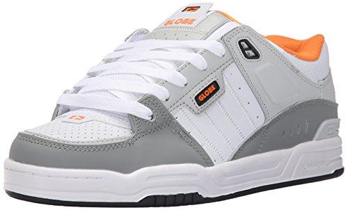 GLOBE Skateboard Shoes FUSION GRAY/WHITE/ORANGE Size 8