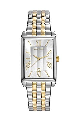 Pierre Cardin Armbanduhr Damenuhr Quarz Uhr PC-Belneuf - Analoge Uhr mit Datum, silbernem Edelstahlarmband und silbernem Zifferblatt - 30m/3atm - PC107212F14
