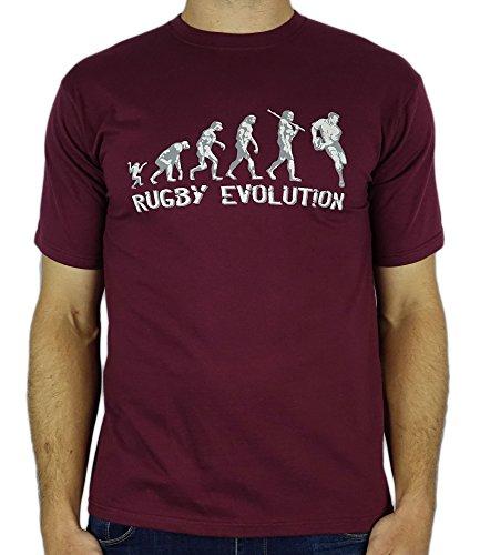 My generation gifts rugby evolution - divertente regalo di compleanno di rugby/uomini presenti t-shirt bordeaux xl