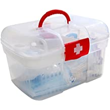 Inditradition First Aid Kit Storage Box | Travel Medical Box - 25x16x16 CM (Transparent)