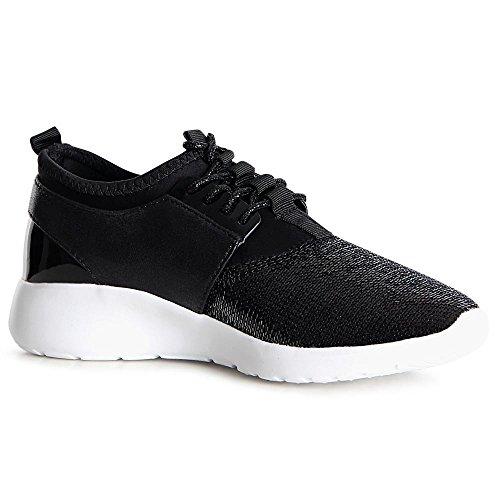 topschuhe24, Sneaker donna Sparkle - Schwarz