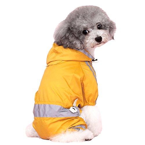 LXLLXL Puppy Dog Kleidung Vier Fuß Wasserdichter Regenmantel Teddy Than Bear Chihuahua Shenari Kleiner Hund Sommer Wear Pet Kostüme (Dog-kostüm Teddy Bear)