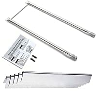Bar.b.q.s Stainless Steel Grill Burner Flavorizer Bars Replacement Parts For E-210 NG, Spirit E-210, Spirit S-210, Weber Spirit 500, Spirit 500LX, and Genesis Silver A gas grills (Repair Kit)