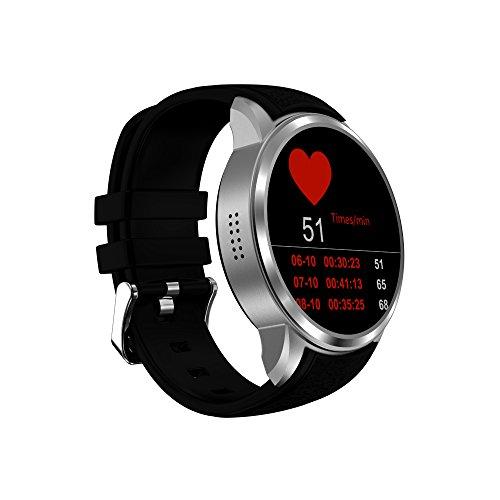 X200 Smart Watch 1GB + 16GB Business Android5.1 Cardiofrequenzimetro IP67 Life Waterproof Supporto 3G WIFI GPS Nano SIM Card,Silver