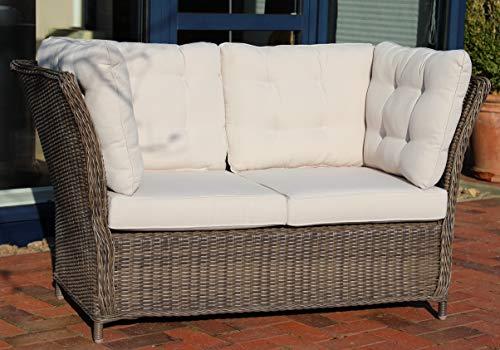 Destiny Loungesofa Palma Vintage Braun Lounge Sofa Bank Gartensofa Polyrattan Dininglounge