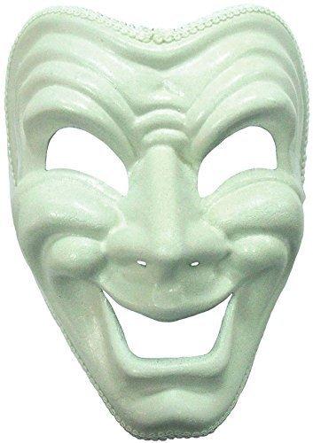 Fröhliches Gesicht Fasching Anzug Maske in (White Für Kostüme Erwachsene Tiger)