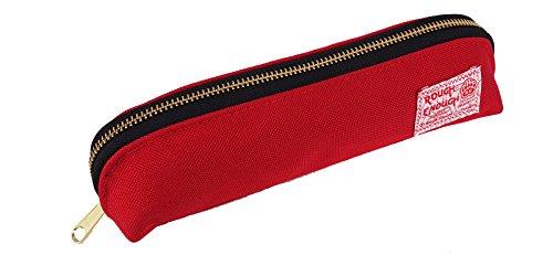 Rough Enough Cordura lang Pouch Federmappe mit Gold YKK-Reißverschluss rot