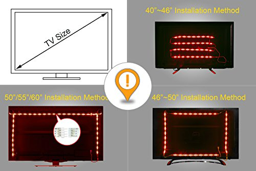 13 99 led striptv led hintergrundbeleuchtung rgb 2m656ft led streifen fr 40 bis 60 hdtv usb. Black Bedroom Furniture Sets. Home Design Ideas