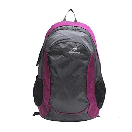 LF&F Backpack 30 Liter KapazitäT Outdoor Sport Rucksack Wasserdichte Freizeit Nylon Reisetasche Einfache Multifunktions Student Tasche Unisex Daypacks B