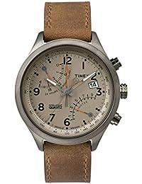 Timex Herren Armbanduhr Chronograph Quarz Leder TW2P78900