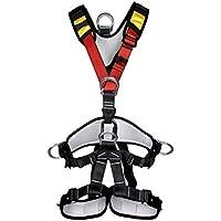 CLISPEED Arnés de Escalada Arnés de Seguridad del Cuerpo Cinturón de Seguridad para Alpinismo Escalada de Montaña Banda Externa Expansión Entrenamiento Espeleología Escalada en Roca Rappel