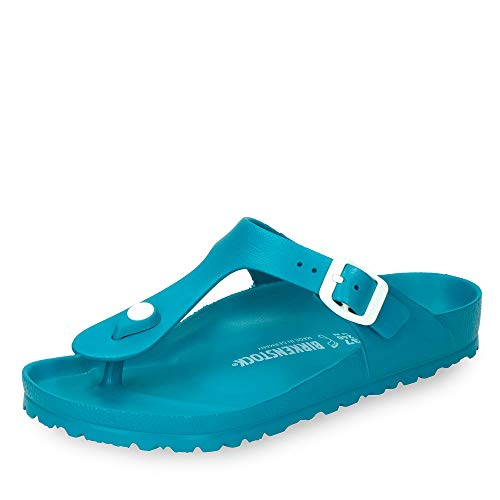 BIRKENSTOCK Damen Gizeh Zehentrenner (40 EU, Turquoise (1013098)) Toe-strap Sandal