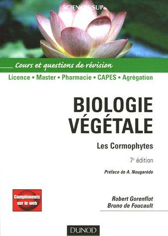 Biologie vgtale : Les Cormophytes Cours et questions de rvisions