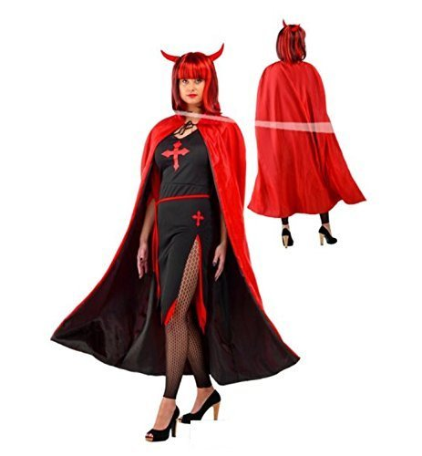 Folat 23723- Mantello da vampiro rosso e nero per Halloween
