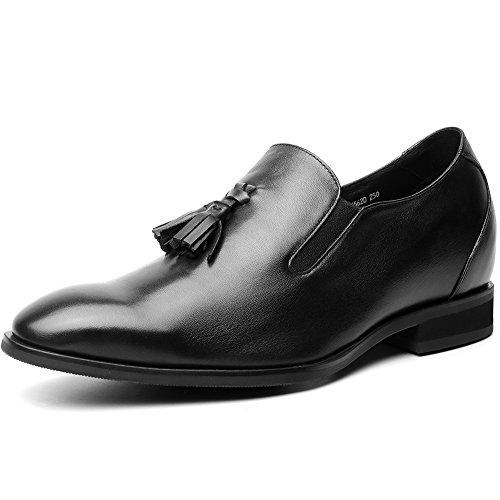 Chamaripa mocassini scarpe con rialzo eleganti derby uomodi pelle per tempo libero/affari commerciali fino 7 cm - h81d16k562d