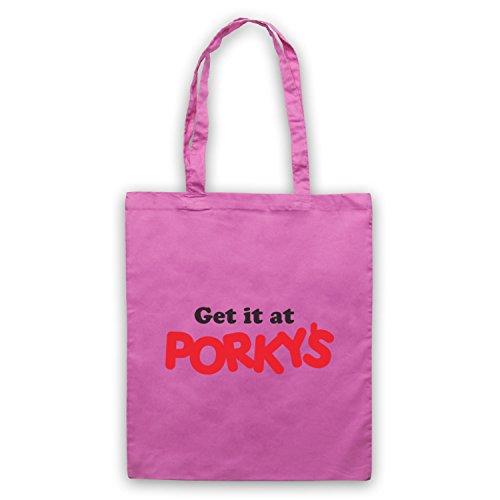 Inspiriert durch Porky's Get It At Porky's Logo Inoffiziell Umhangetaschen Rosa