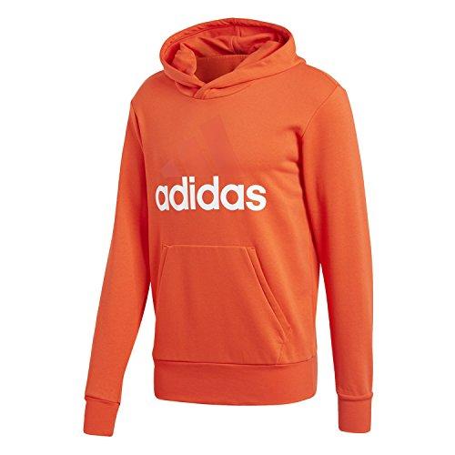 adidas Herren Essentials Linear Kapuzenjacke rot (Roalre / weiß)