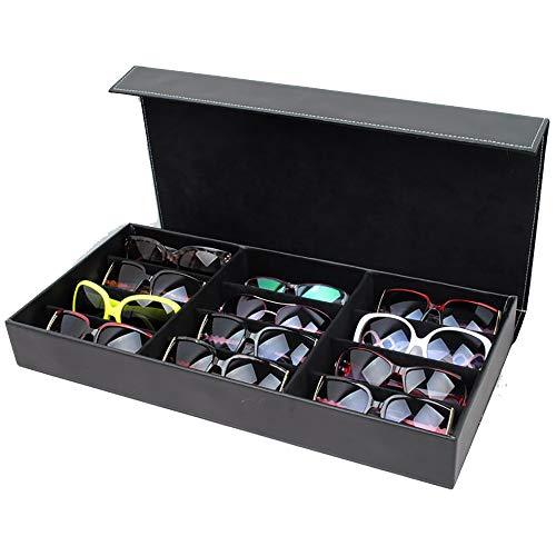 KTYXDE 12-Frame-Brillen Schmuck Aufbewahrungsbox Sonnenbrillen Sonnenbrillen Display Aufbewahrungsbox, Eine Vielzahl Von Farben Kosmetiktasche (Color : C)