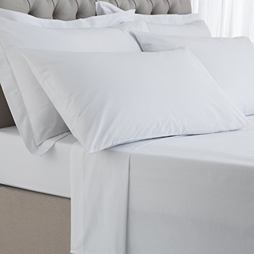 Great Knot Tolles Knoten, 100% ägyptische Baumwolle 200 Fadenzahl Perkal-Bettlaken (Single 175 cm x 254 cm, weiß) (Egyptian Cotton Bath Sheet)