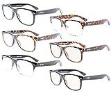 Eyekepper Lectores de 6-pack Bisagras de resorte de la calidad Retro los anteojos incluido 2-Pcs Ordenadores gafas