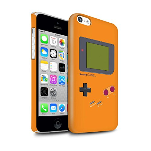 Clipser Brillant Coque de Stuff4 / Coque pour Apple iPhone 5/5S / Blanc Design / Jeu Vidéo/Gameboy Collection Orange
