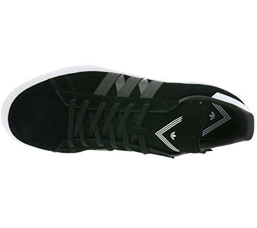 adidas White Mountaineering Campus 80s Schuhe Echtleder-Sneaker Turnschuhe Schwarz BA7516 Schwarz