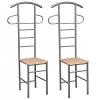 Anself 2 Set of Chair Valet Stand Gentleman