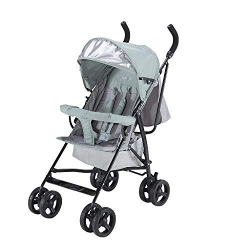 BLWX - Poussette Peut s'asseoir inclinable bébé lumière et Facile à Plier élargie Parapluie Poussette système de Voyage léger Voiture Poussette (Couleur : Green)