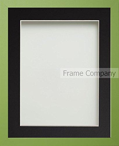 7' X 9 Grün (Frame Company Beneton Bilderrahmen, mit Passepartout, verschiedene Größen, Schwarz / Grün 12x10 for pic size 9x7')