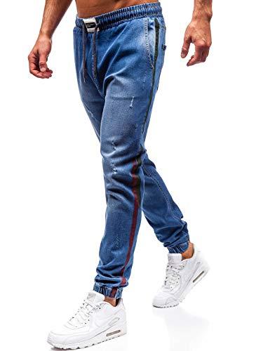 BOLF Herren Jeanshose Jogger Denim Street Style Otantik 2053 Blau S [6F6] | 05902646983523