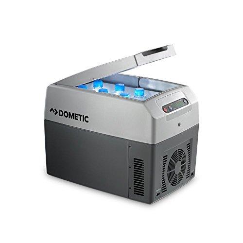 Dometic TROPICOOL TC 14  -  Thermo-Elektrische Kühlbox mit 12/24 und 230 Volt Anschluss zum Anschluss im  Zigarettenanzünder für PKW / LKW und für die Steckdose, Kühlen und Heiz-Funktion, tragbarer Mini-Kühlschrank, Fassungsvermögen 14 Liter, A++