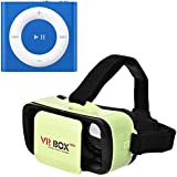 Raptas MiniiPod Mp3 Music Player Metal Body with Deep Bass Earphone and Sd Card Support & Mini Vr Box Virtual Reality with Ultra Hd Optical Lenses 3D Glasses Works with All Android